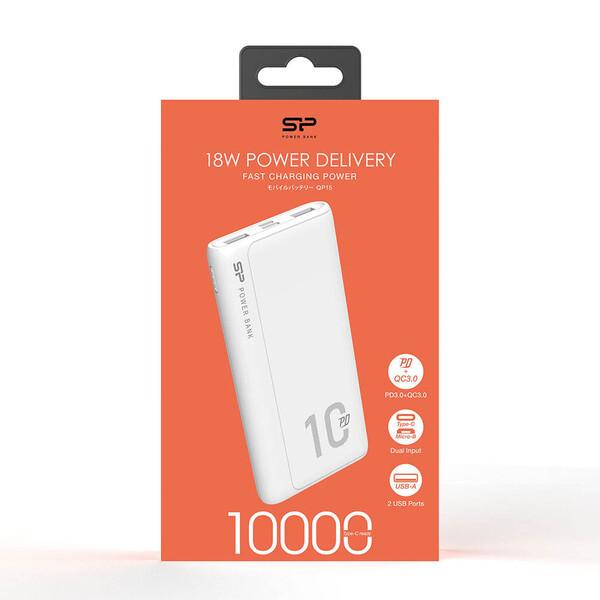 شارژر همراه سیلیکون پاور مدل QP15  ظرفیت 10000 میلیآمپر ساعت