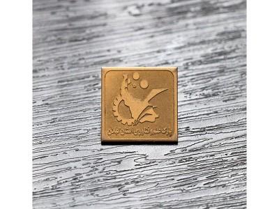 بج سینه مربعی طلایی