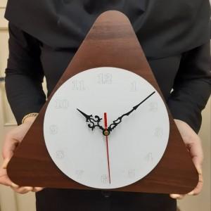 ساعت دیواری سفارشی مثلثی