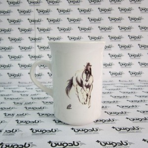 ماگ سرامیکی باریک بلند سفید