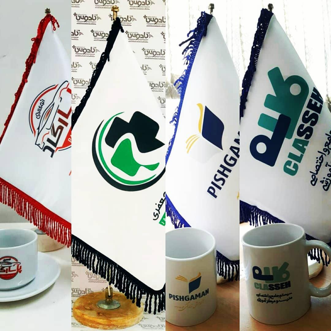 انواع پرچم های رومیزی با چاپ اختصاصی
