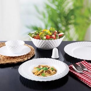سرویس غذاخوری 28 پارچه پارس اوپال مدل قالب p سفید ساده