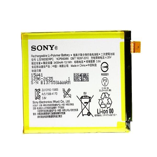 باتری مدل LIS1605ERPC با ظرفیت 3430 میلی امپر مناسب برای گوشی sony xperia z5 permium