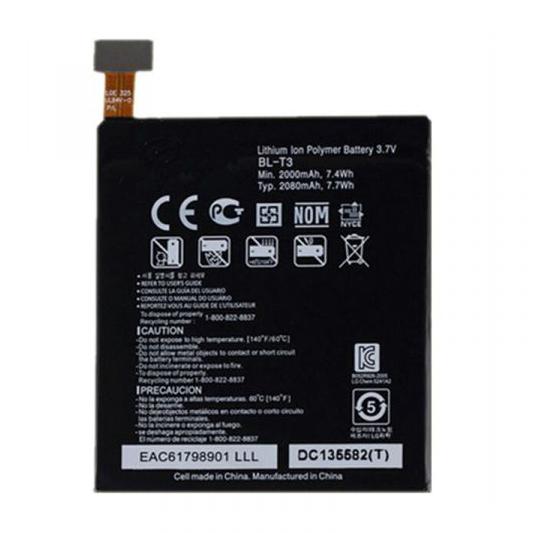 باتری موبایل مدل T-3 ظرفیت 2000 میلی آمپر ساعت مناسب برای گوشی موبایل ال جی LG t3