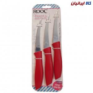 ست 3 تایی چاقو مدل راک