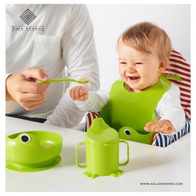 سرویس ۴ تکه غذا خوری کودک ایکیا مدل MATA