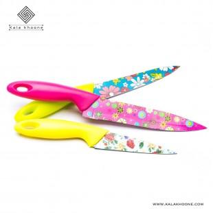 ست چاقو گلدار