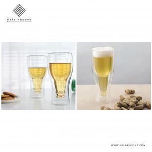 لیوان دو جداره طرح بطری