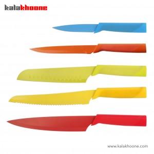 سرویس چاقو رنگین کمان بنتاتی