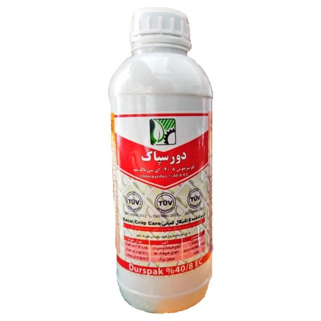 سم حشره کش کلرپیریفوس (دورسبان) پاک سم - 1 لیتری
