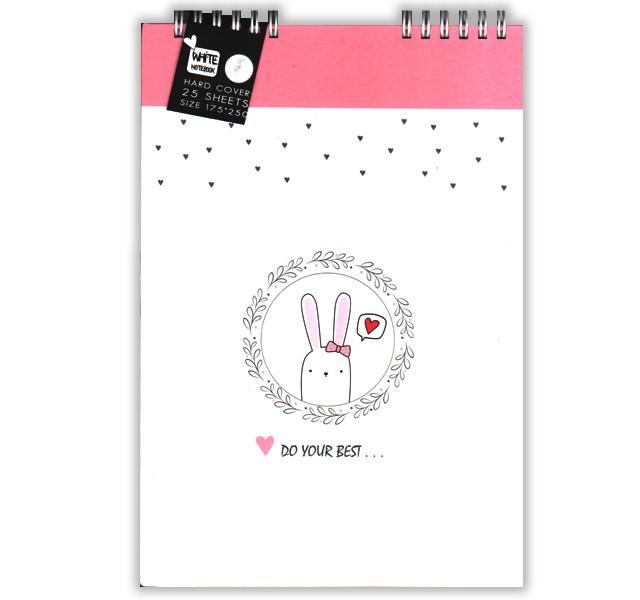 دفترچه یادداشت برگ سفید 25 برگ جلد سخت