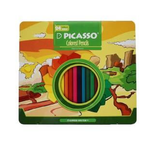 مداد رنگی 24 رنگ پیکاسو قاب فلزی