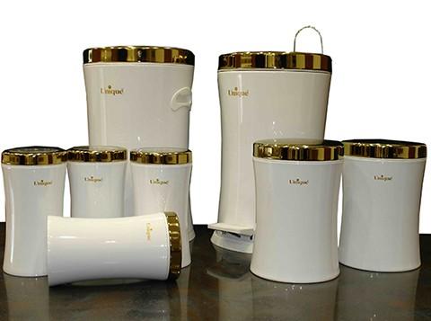 سرویس 8 پارچه کمر باریک با درب طلایی یونیک مدل 4520