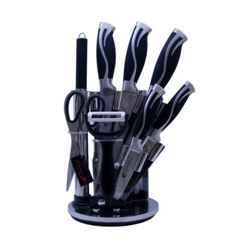 سرویس چاقو آشپزخانه 9 پارچه فلورنس کد 2207