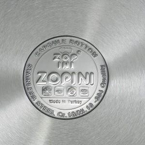 قابلمه استیل زوپینی مدل آنت با درب پیرکس