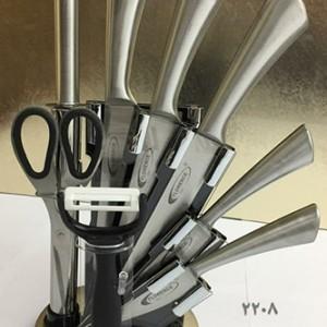 سرویس چاقو آشپزخانه 9 پارچه فلورنس کد 2208
