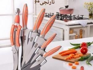 سرویس چاقو آشپزخانه 8 پارچه ریور کد 2212