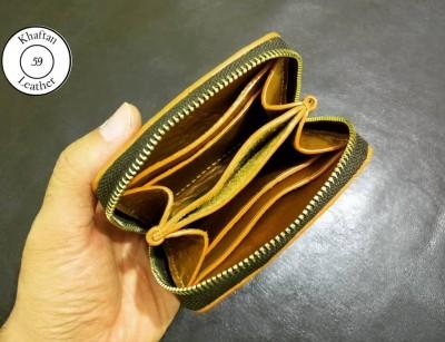 کیف پول دور زیپ چرم طبیعی