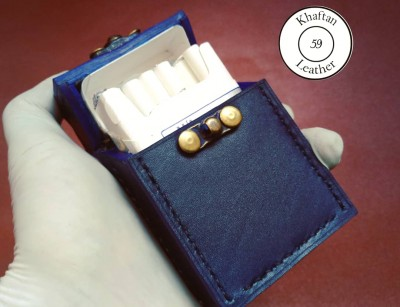کیف سیگار چرم طبیعی ظرفیت کل پاکت سیگار