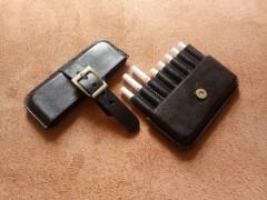 کیف سیگار چرم طبیعی ظرفیت هشت نخ سگک دار