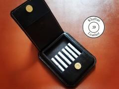 کیف سیگار چرم طبیعی ظرفیت شش نخ طرح جمجمه