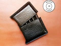 کیف سیگار چرم طبیعی ظرفیت پنج نخ