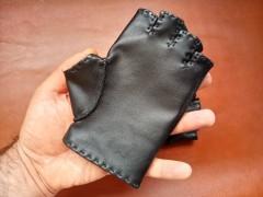 دستکش انگشتی چرم طبیعی سایز زنانه