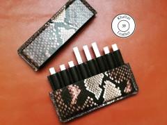 کیف سیگار ظرفیت هشت نخ طرح پوست مار مدل اسلیم