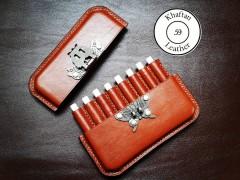 کیف سیگار ظرفیت هشت نخ دارای قفل پروانه ای