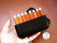 کیف سیگار ظرفیت هشت نخ چرم فلوتر گاوی