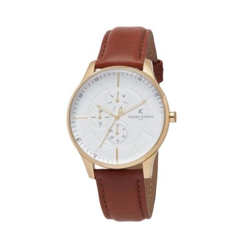ساعت مچی عقربه ای مردانه کلاسیک برند پیرکاردین مدل PC902731F111