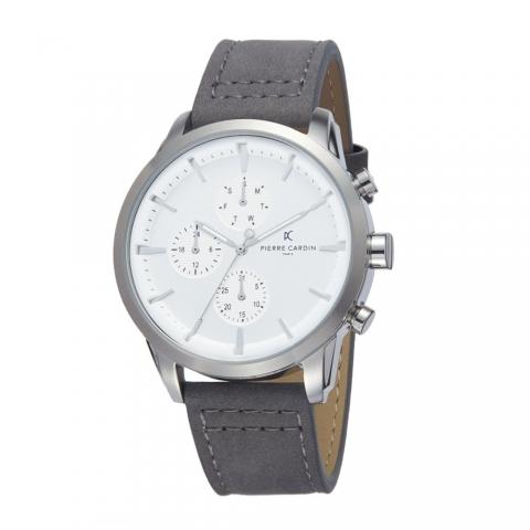ساعت مچی عقربه ای مردانه کلاسیک برند پیرکاردین مدل PC902741F101