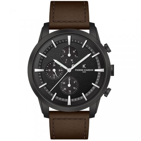 ساعت مچی عقربه ای مردانه کلاسیک برند پیرکاردین مدل A.PC902741F103