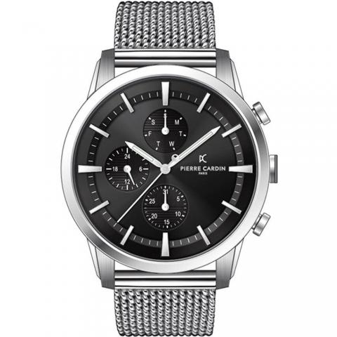 ساعت مچی عقربه ای مردانه کلاسیک برند پیرکاردین مدل A.PC902741F104