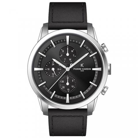 ساعت مچی عقربه ای مردانه کلاسیک برند پیرکاردین مدل A.PC902741F102