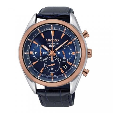 ساعت مچی عقربه ای مردانه کلاسیک برند سیکو مدل SSB160P1