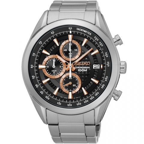 ساعت مچی عقربه ای مردانه کلاسیک برند سیکو مدل SSB199P1