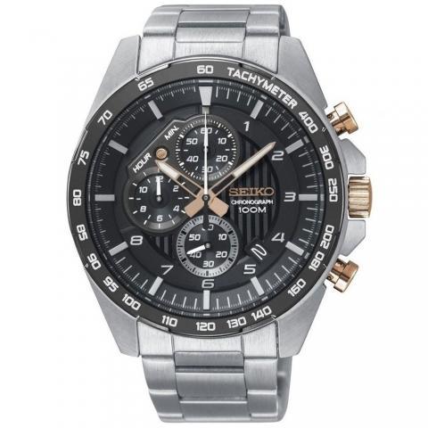 ساعت مچی عقربه ای مردانه اسپرت برند سیکو مدل SSB323P1