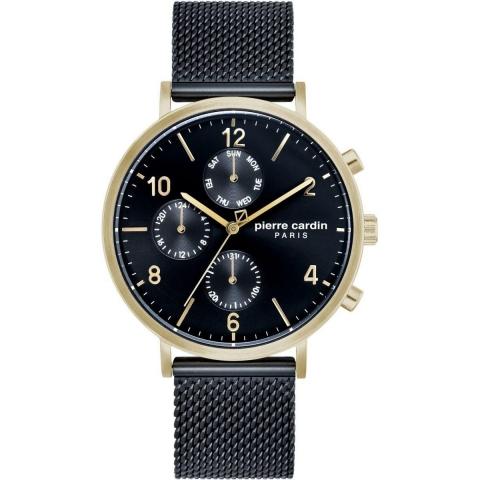 ساعت مچی عقربه ای مردانه کلاسیک برند پیرکاردین مدل PC902641F09