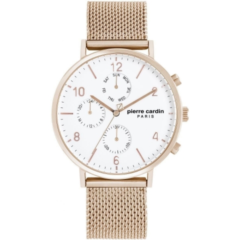 ساعت مچی عقربه ای مردانه کلاسیک برند پیرکاردین مدل PC902641F10