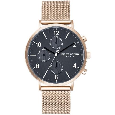 ساعت مچی عقربه ای مردانه کلاسیک برند پیرکاردین مدل PC902641F18