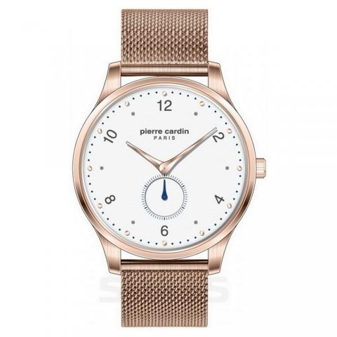 ساعت مچی عقربه ای مردانه کلاسیک برند پیرکاردین مدل PC902671F202