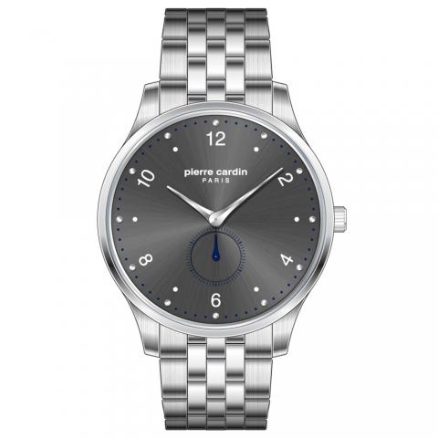 ساعت مچی عقربه ای مردانه کلاسیک برند پیرکاردین مدل PC902671F206