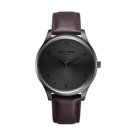 ساعت مچی عقربه ای مردانه کلاسیک برند پیرکاردین مدل PC902711F206
