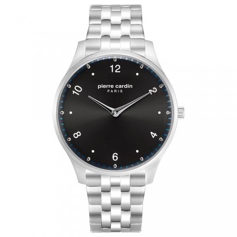 ساعت مچی عقربه ای مردانه کلاسیک برند پیرکاردین مدل PC902711F207
