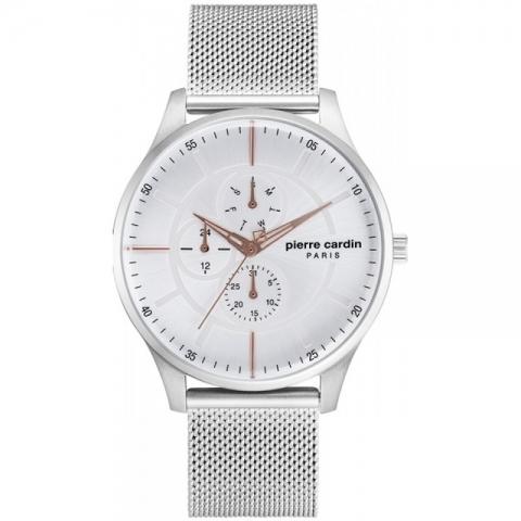 ساعت مچی عقربه ای مردانه کلاسیک برند پیرکاردین مدل PC902731F01