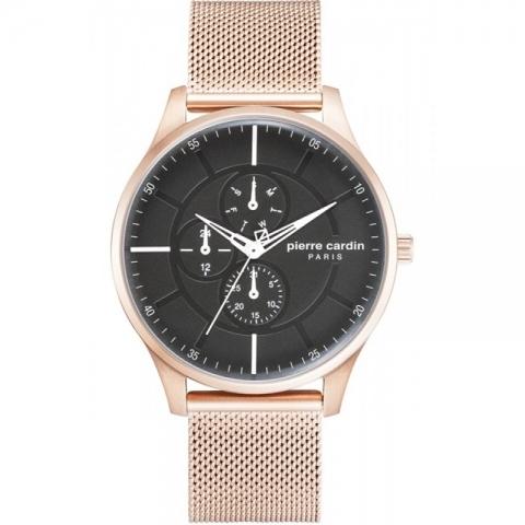 ساعت مچی عقربه ای مردانه کلاسیک برند پیرکاردین مدل PC902731F03