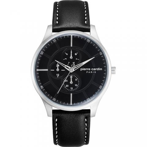 ساعت مچی عقربه ای مردانه کلاسیک برند پیرکاردین مدل PC902731F05