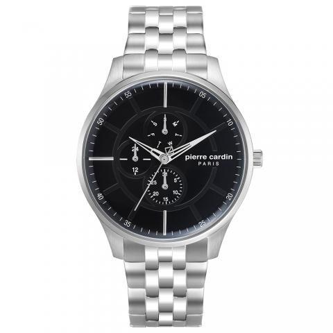 ساعت مچی عقربه ای مردانه کلاسیک برند پیرکاردین مدل PC902731F07