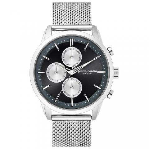 ساعت مچی عقربه ای مردانه کلاسیک برند پیرکاردین مدل PC902741F01